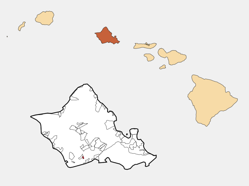 'Ewa Gentry locator map