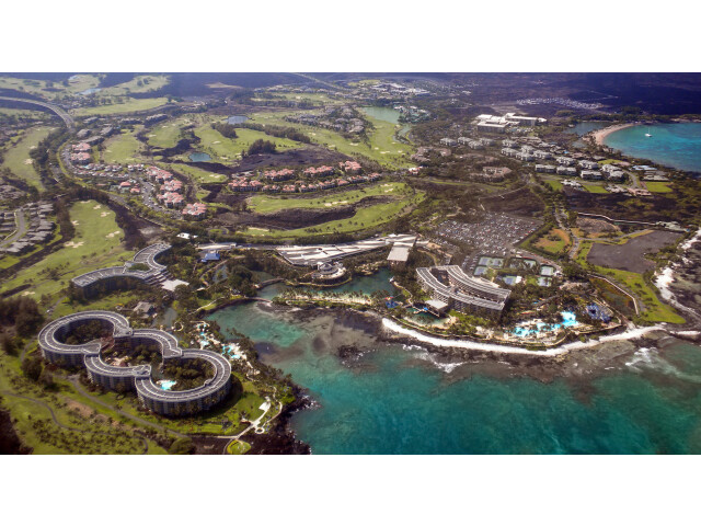 Kohala coast at the Big Island of Hawaii from the air levels image