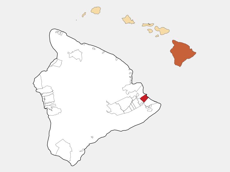Hawaiian Paradise Park locator map