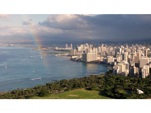 Waikiki view from Diamond Head image