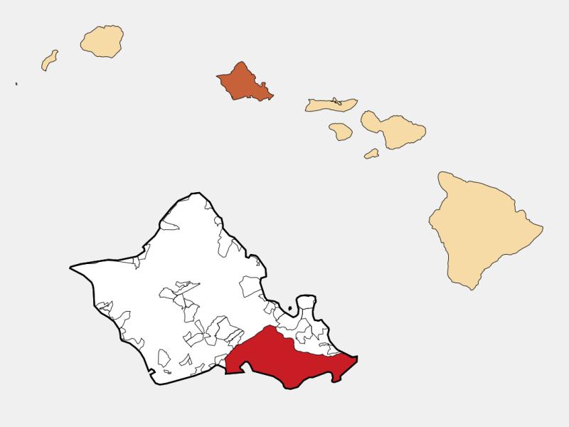 Honolulu locator map