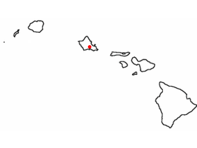 'Aiea, HI locator map