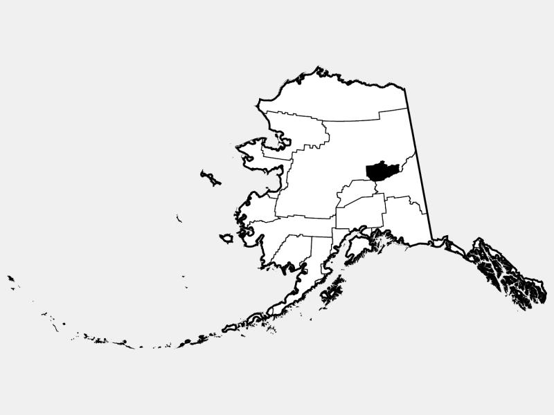 Fairbanks North Star Borough locator map