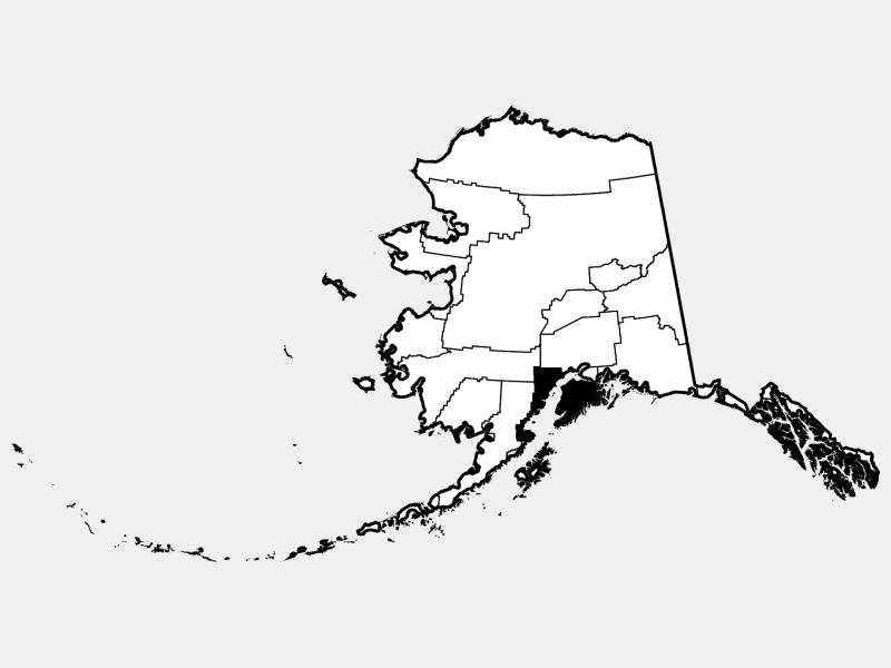 Kenai Peninsula Borough locator map