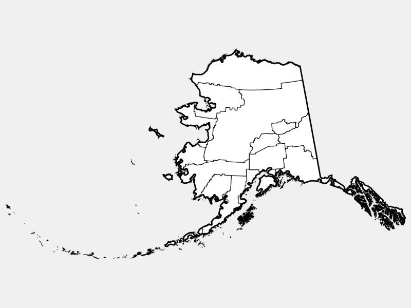 Kodiak Island Borough locator map