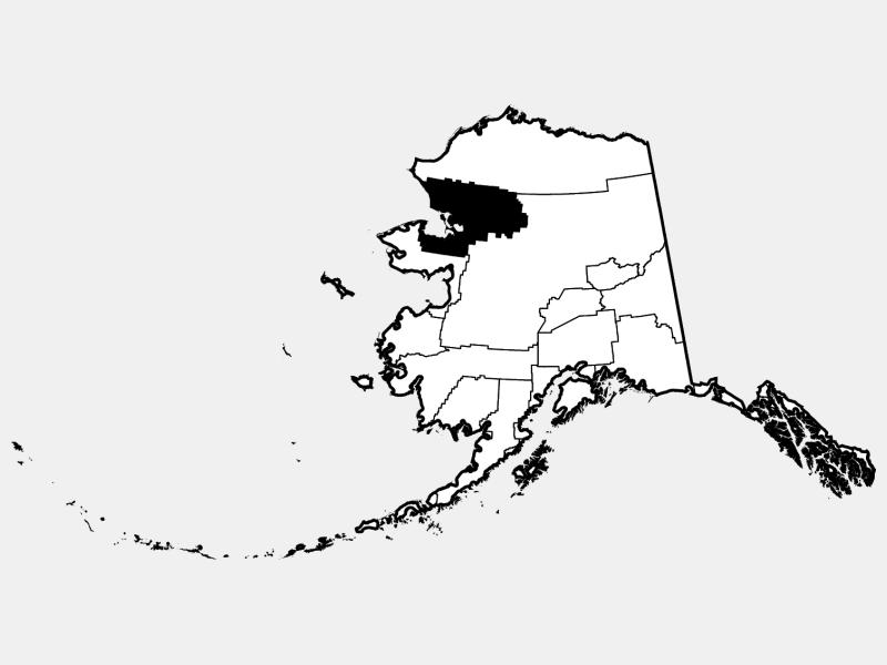 Northwest Arctic Borough locator map