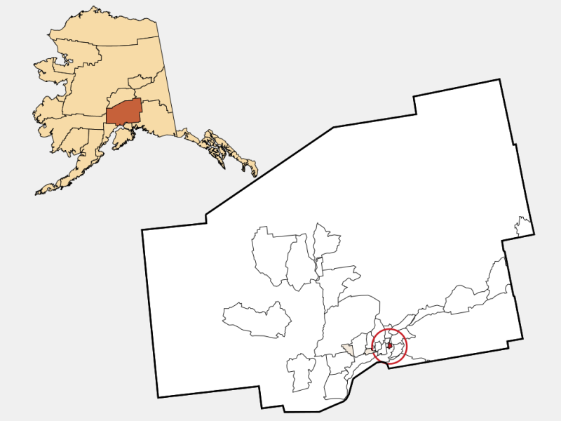 Palmer locator map