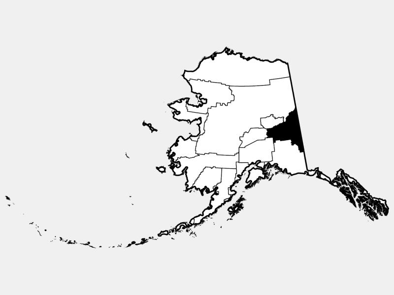 Southeast Fairbanks Census Area locator map