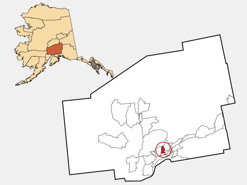 Tanaina locator map