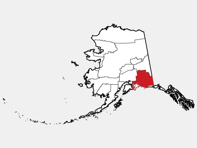 Valdez-Cordova Census Area locator map