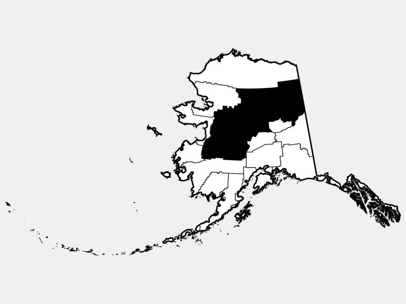 Yukon-Koyukuk Census Area locator map
