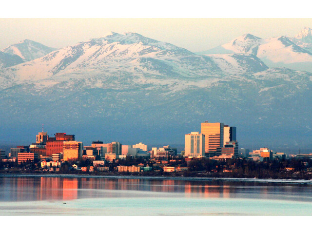 Anchorage on an April evening image