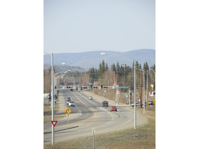Western end of Badger Road  Badger and Fairbanks  Alaska image
