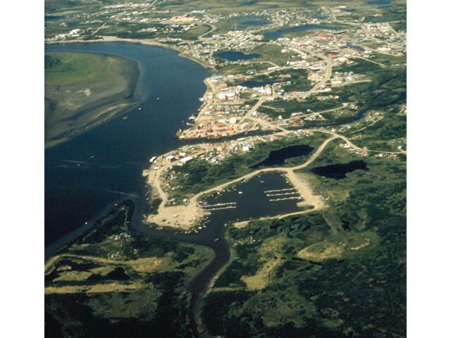 Bethel Alaska aerial view image
