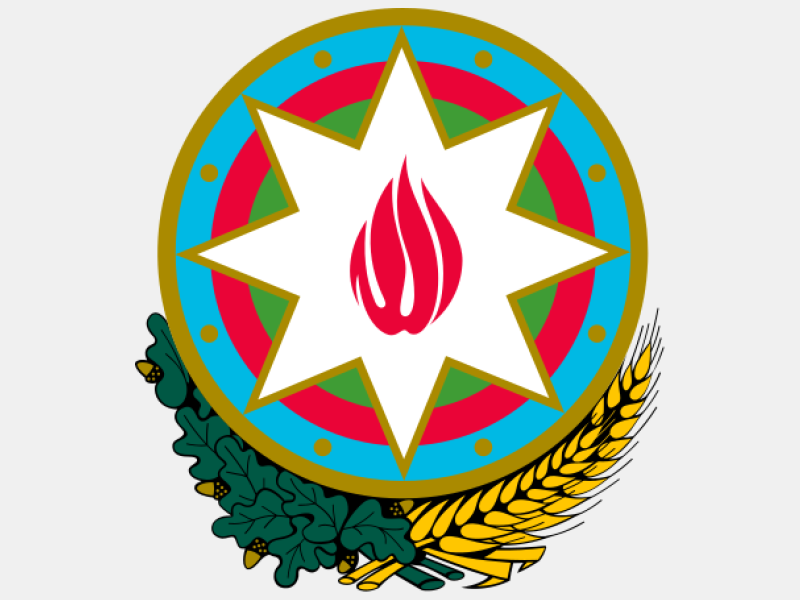 Emblem of Azerbaijan coat of arms image