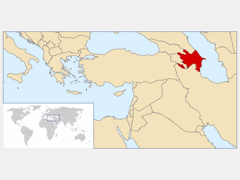 Republic of Azerbaijan locator map