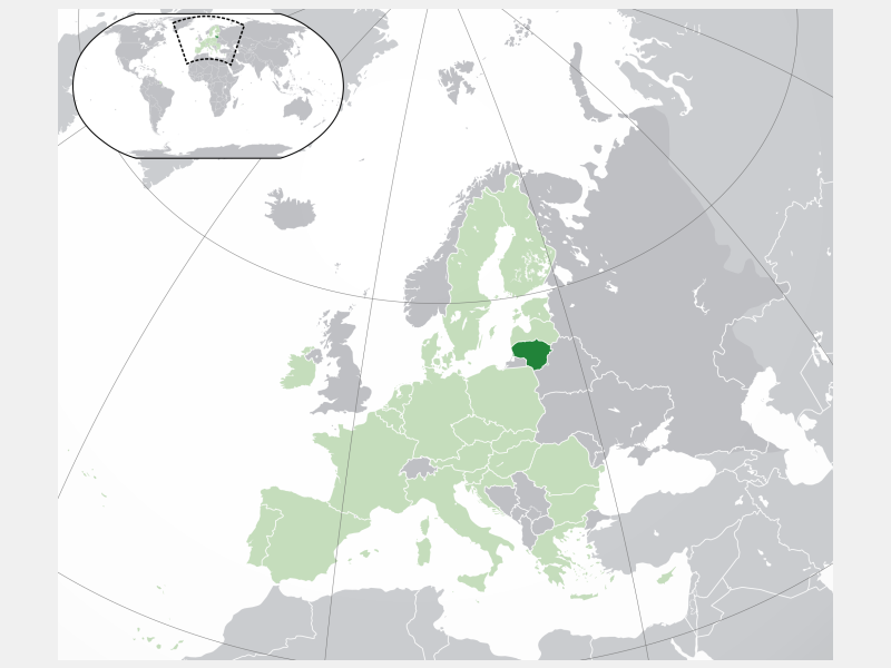 Republic of Lithuania locator map
