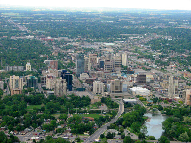 London  Ontario  Canada- The Forest City from above image