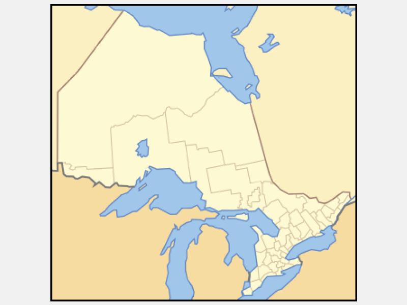 North Bay locator map