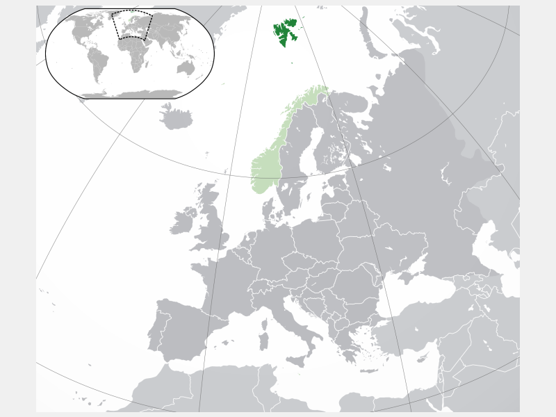 Svalbard and Jan Mayen locator map