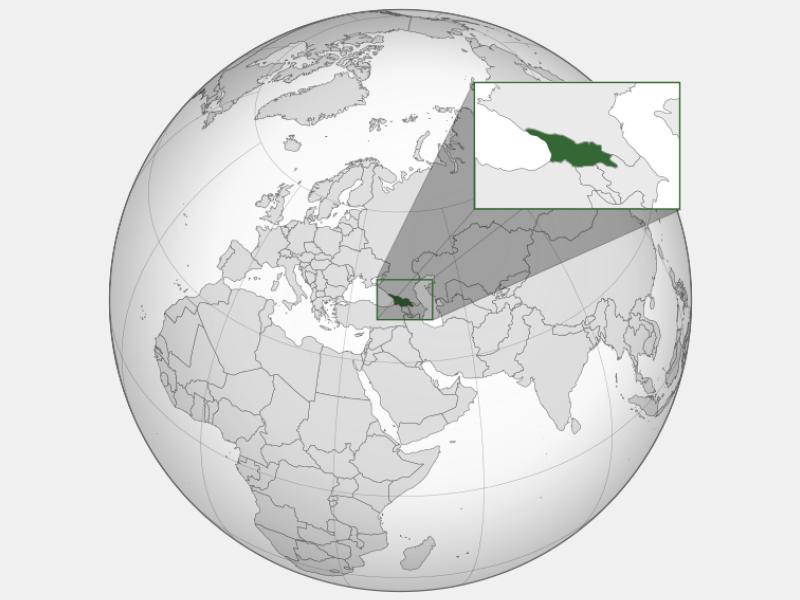 Georgia locator map