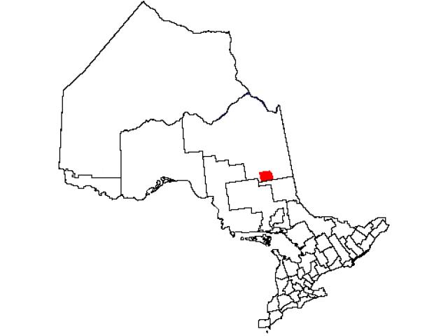 Timmins locator map