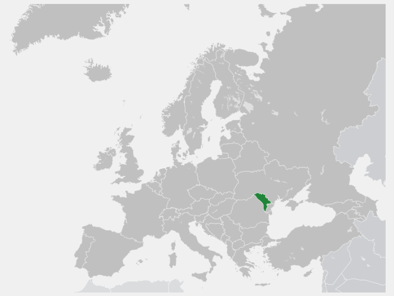 Republic of Moldova locator map