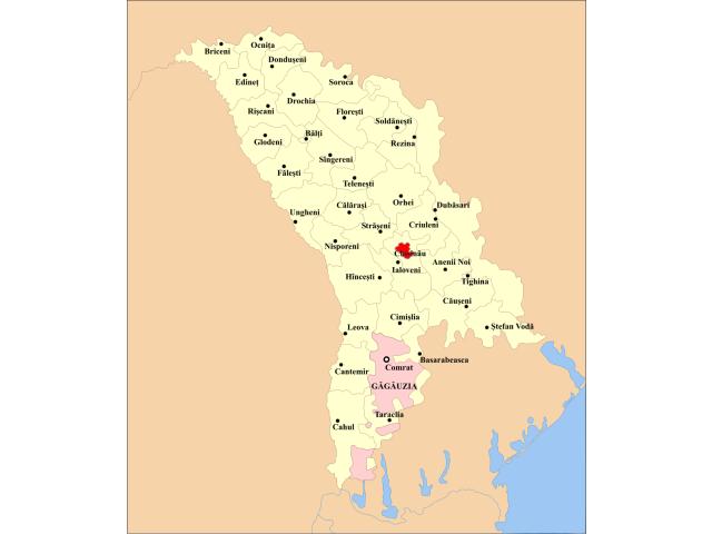 Chisinau locator map