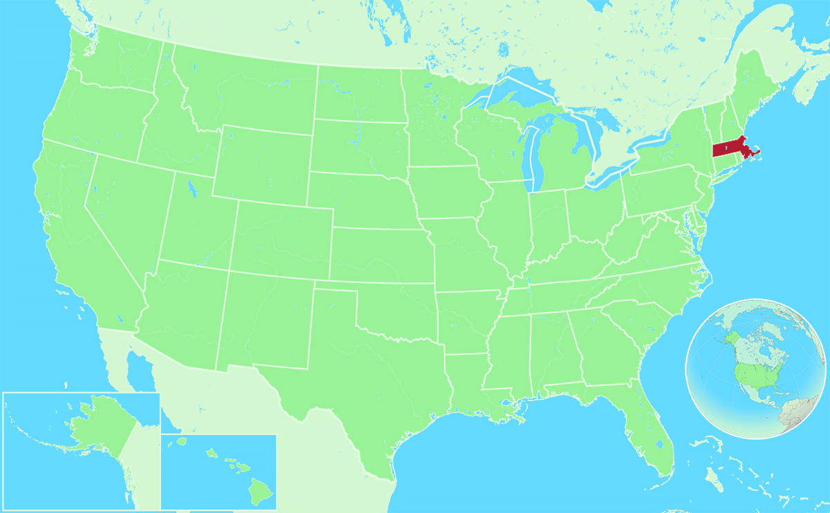 Massachusetts locator map