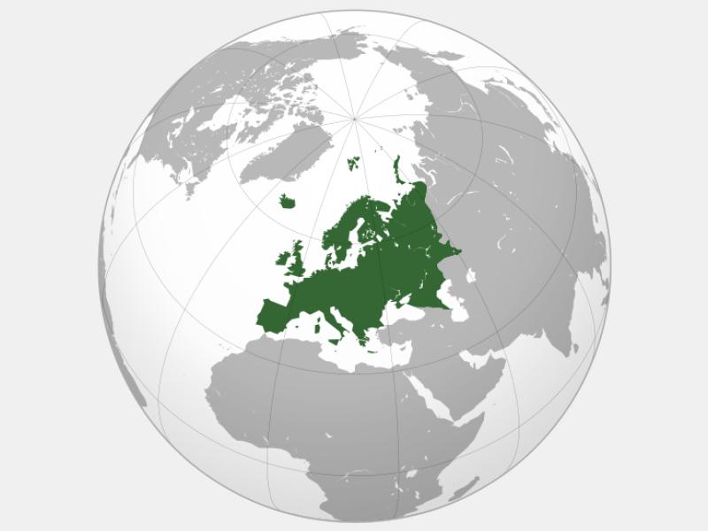 Europe locator map