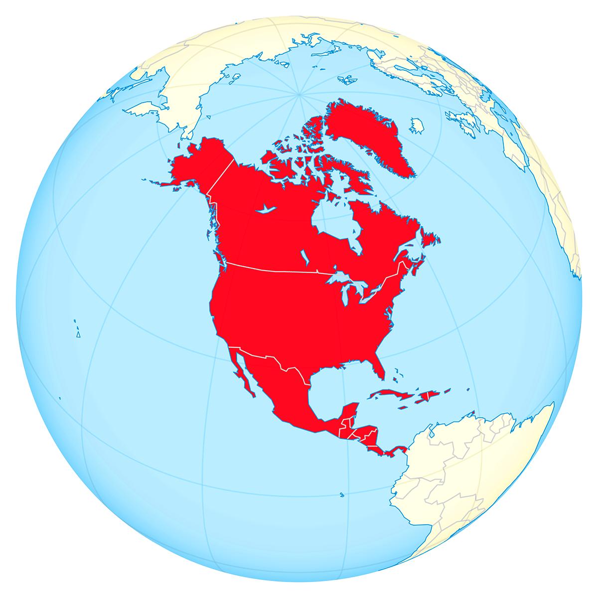 North America locator map