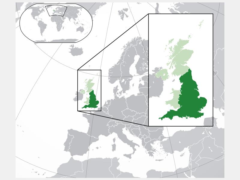 England locator map
