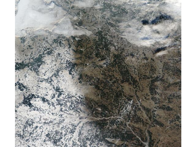 Satellite image of Belarus in December 2002 image