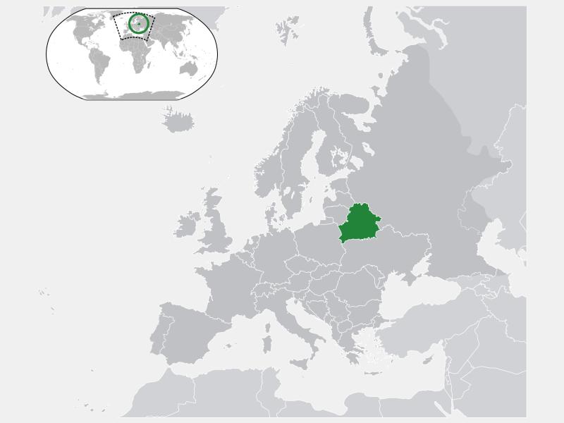 Republic of Belarus locator map