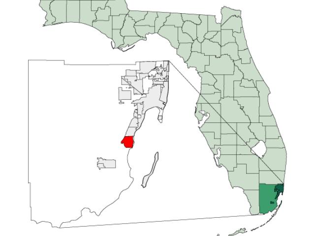 Cutler Bay, FL locator map