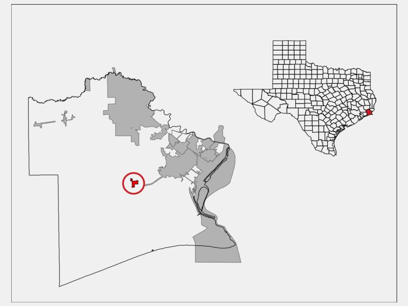 Taylor Landing locator map