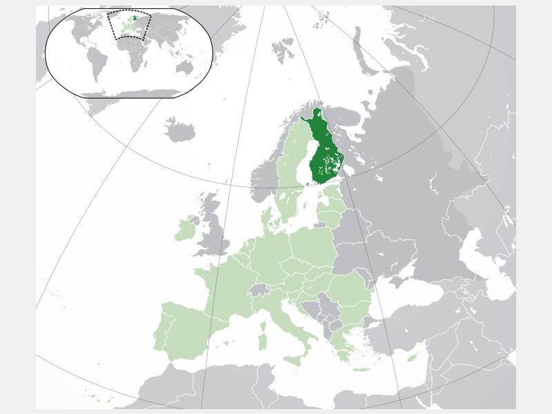 Republic of Finland locator map
