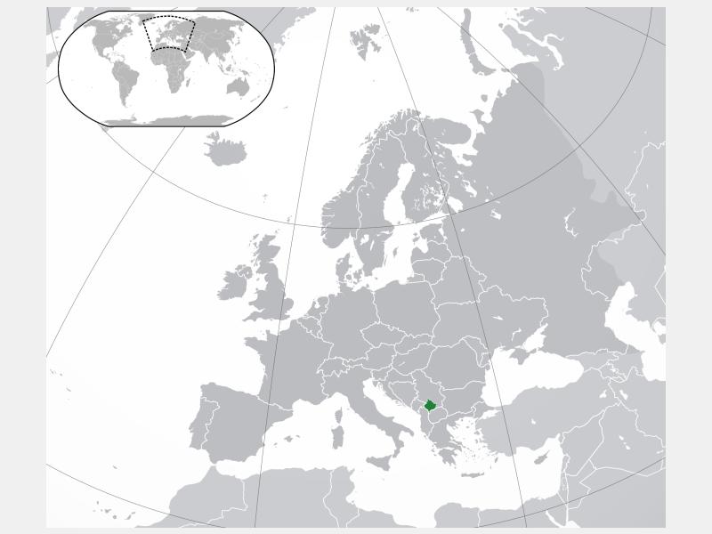 Kosovo locator map