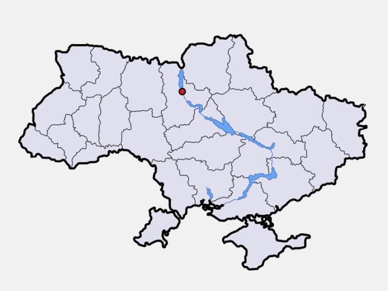 Kyiv locator map