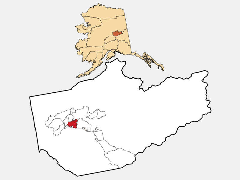 City of Fairbanks location map