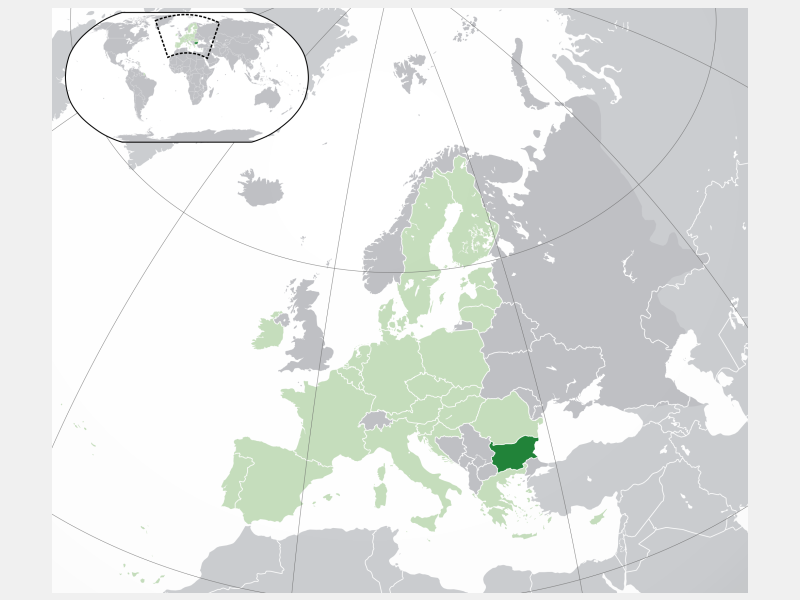 Republic of Bulgaria locator map