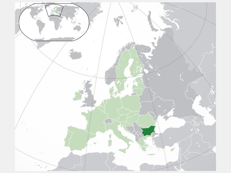 Republic of Bulgaria locator map