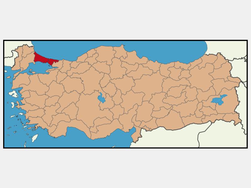 Istanbul locator map