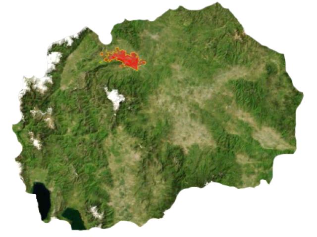 Skopje locator map