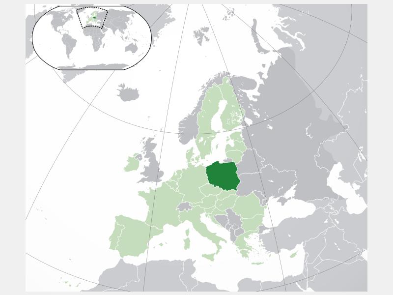 Republic of Poland locator map