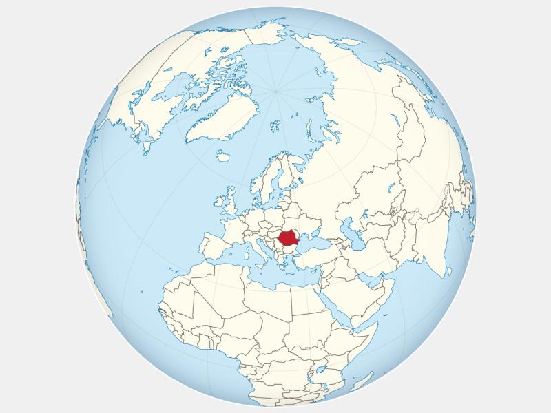 România locator map