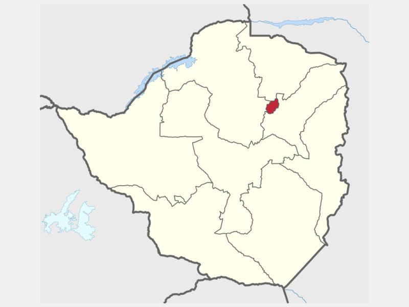 Harare locator map