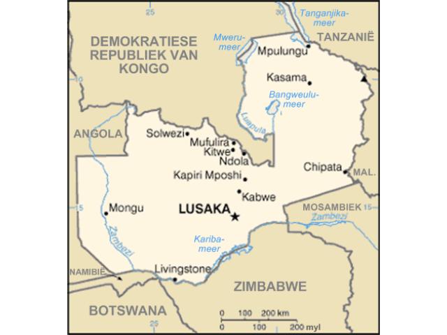 Lusaka locator map