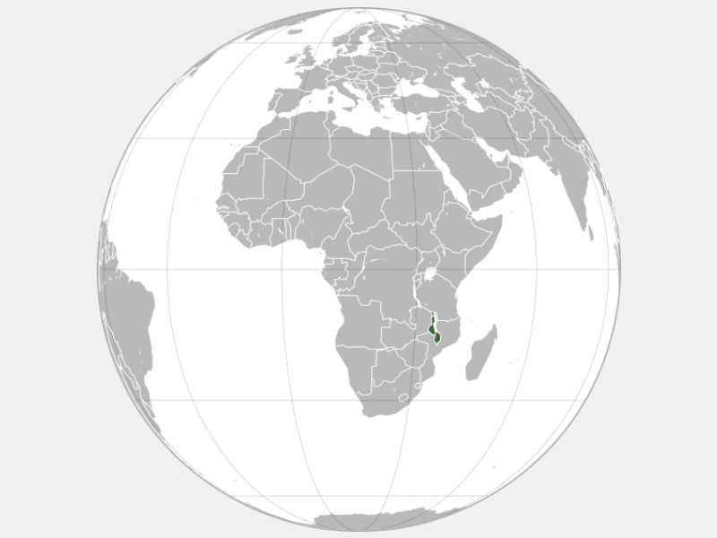 Republic of Malawi locator map