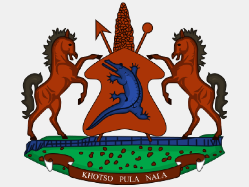 Coat of arms of Lesotho coat of arms image